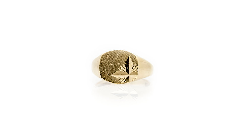 9ct Gold Gold Signet Ring front view