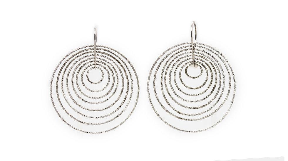 Sterling Silver Multi Hoops On Hooks Earrings