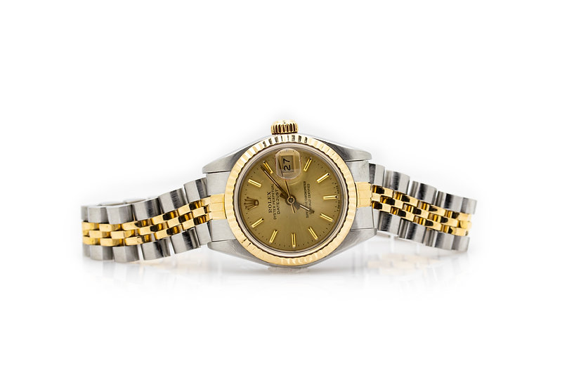 Oyster Perpetual Datejust Steel 18 Carat Ladies Watch Mulroy Antiques