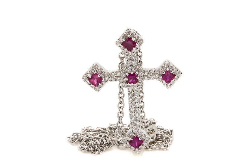 Ruby and Diamond Cross