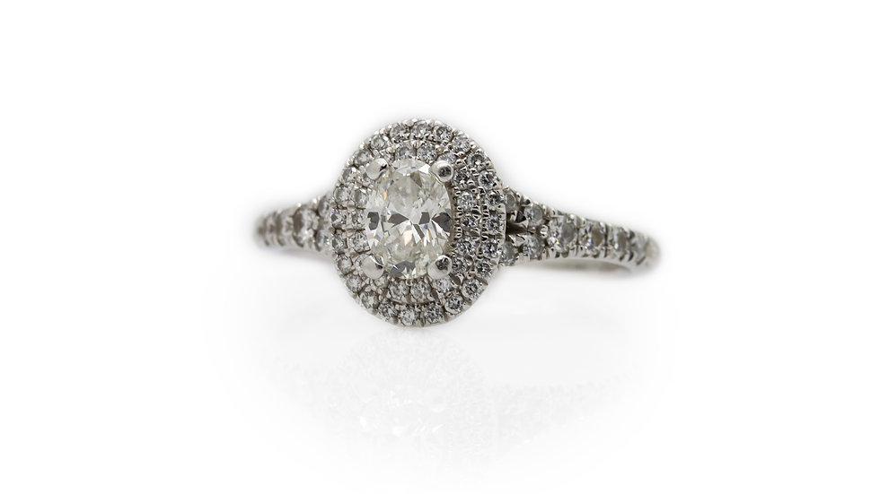ROX Diamond Halo Ring