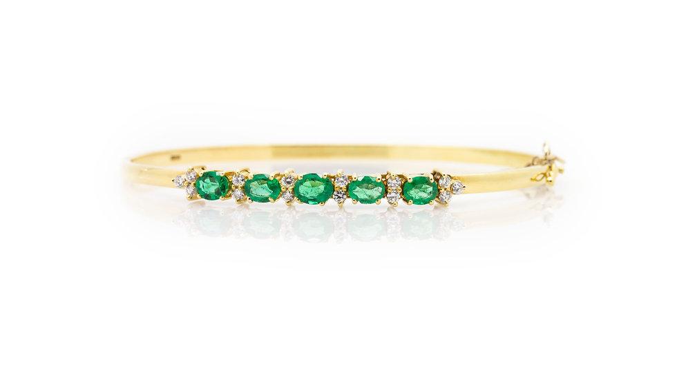 emerald and diamond bracelet uk