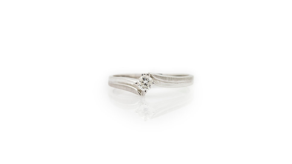 Diamond Solitaire Ring grosvenor jewellers front view