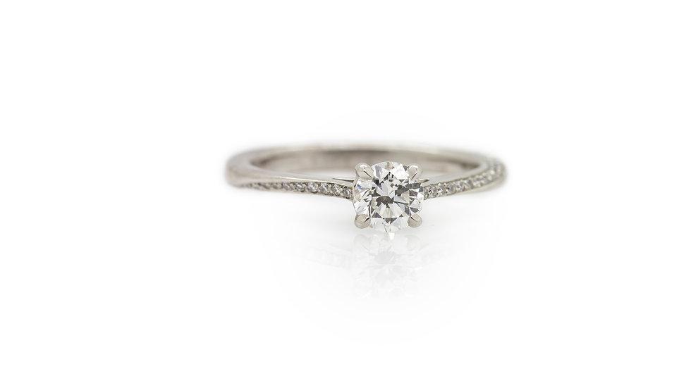 Brilliant Round Cut Diamond Solitaire Ring