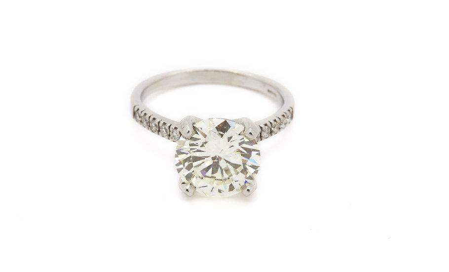 5.07CT Solitaire Diamond Ring