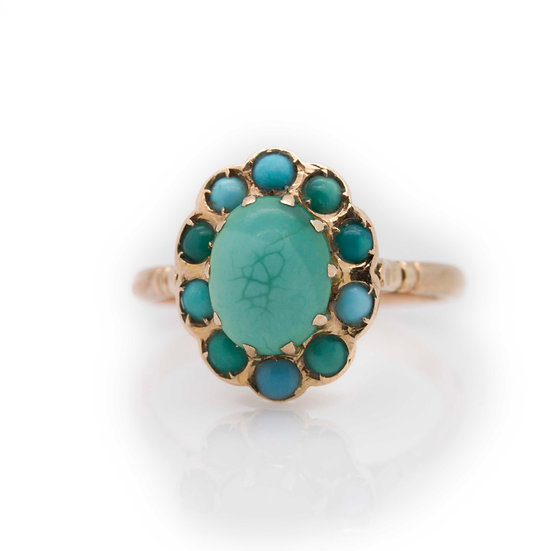 Turquoise Cabochon Cocktail Ring view 1