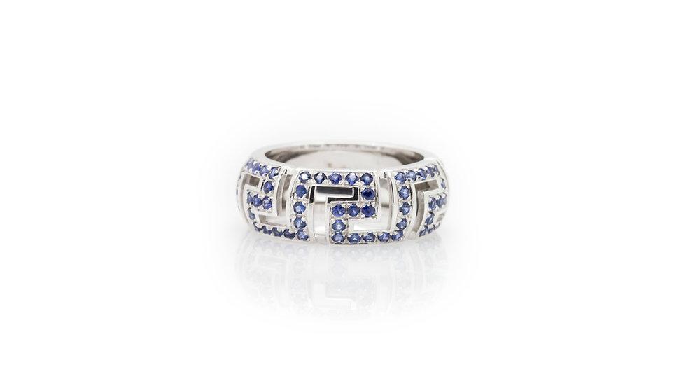 Versace Greca Saffo Sapphire Ring view 1