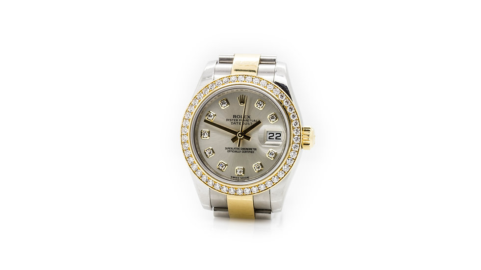 Rolex Oyster Perpetual DateJust With Diamonds view 1