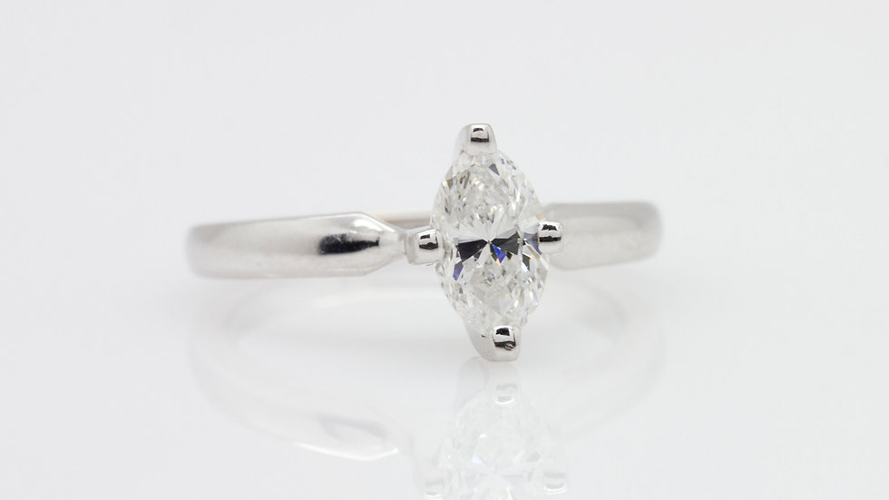 Marquise Solitaire Diamond Ring