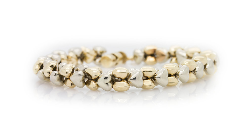 Gold Heart Bracelet view 1
