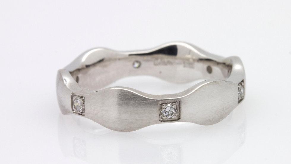 9 carat White Gold Diamond Wedding Band