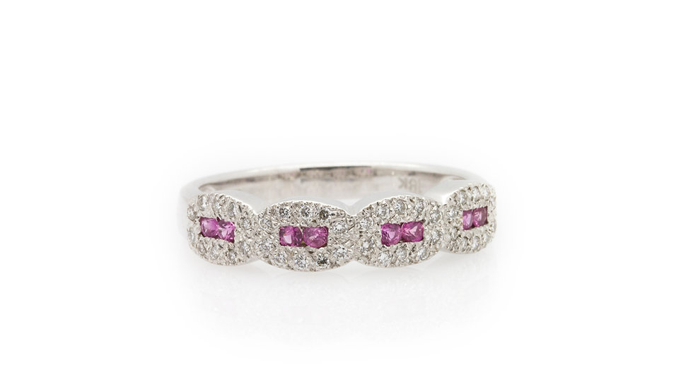 Pink Ruby & Diamond Ring