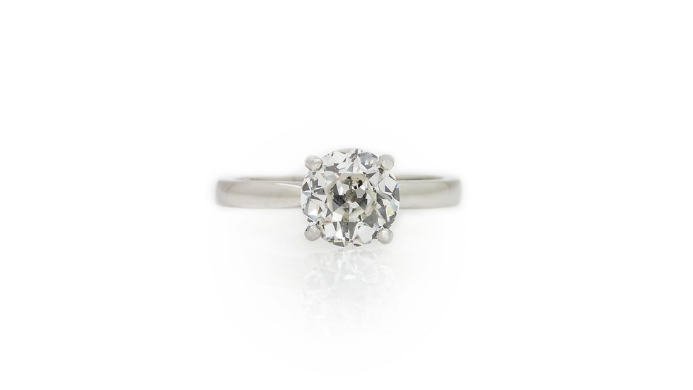 Old RoundCut Diamond Solitaire