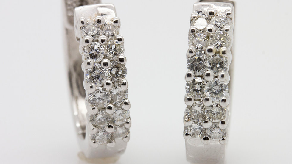Diamond earrings set in 14ct white gold north east UK