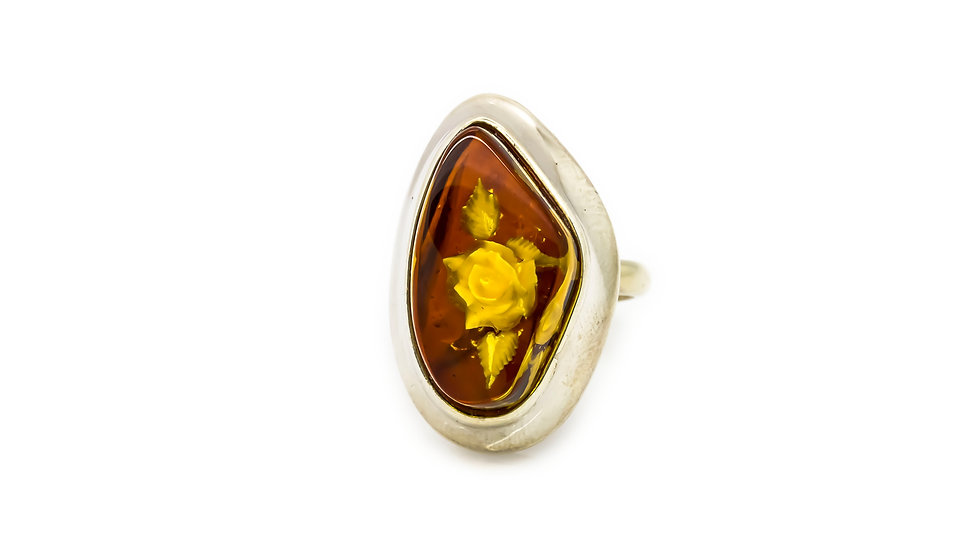 Floral Amber Ring
