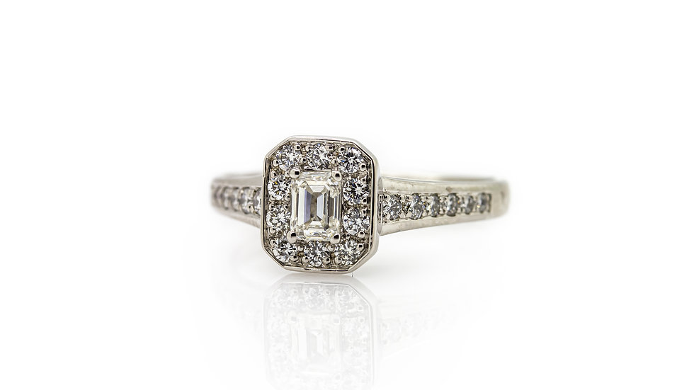 Emerald Cut Diamond Ring view 1