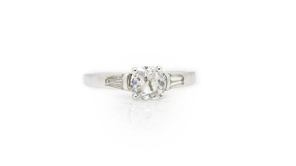 Old European Cut diamond solitaire ring view 1