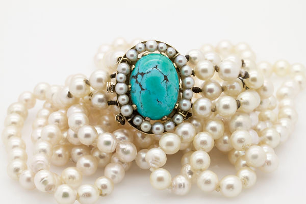 pearl and Turquiose antique necklace