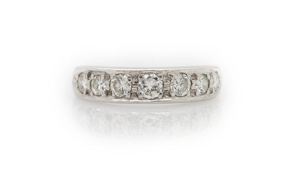 Half Eternity Ring front view