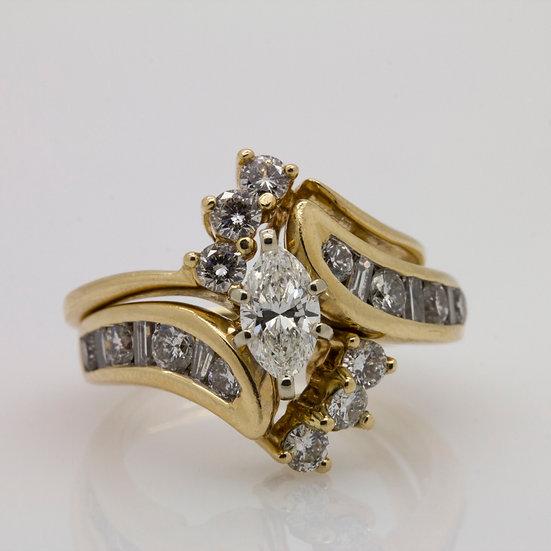 Marquise Diamond Ring Set