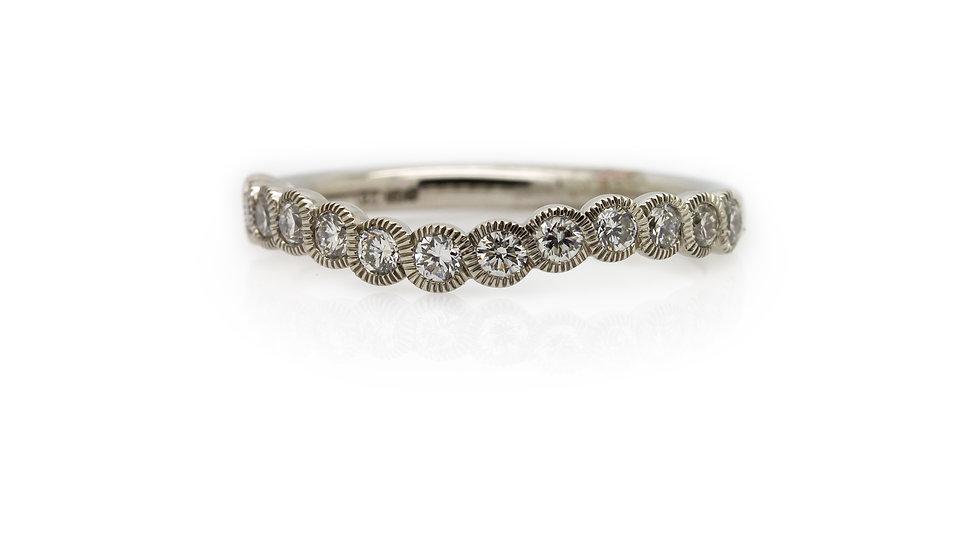 Raphael Collection Diamond Half Eternity Ring