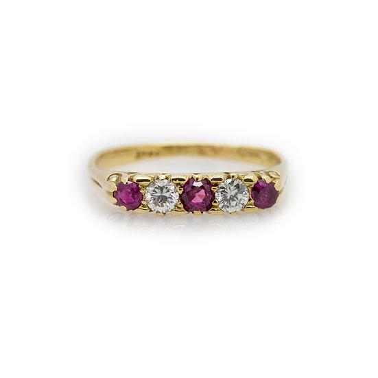 Ruby & Diamond Eternity Ring view 1