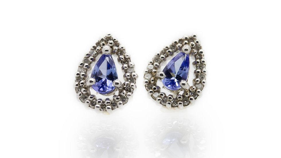 Pear Cut Tanzanite Stud Earrings