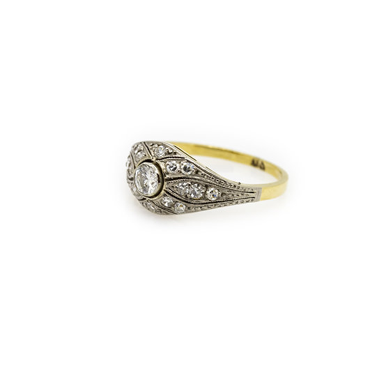 Art Deco Panel Diamond Ring mulroy antiques