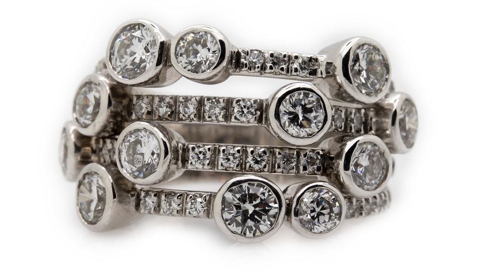 Boodles Diamond Cluster Ring view 1