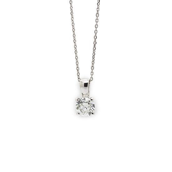 Diamond Solitaire Pendant Mulroy Antiques