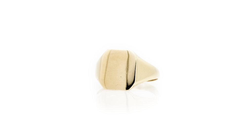 9ct Gold Signet Ring front view