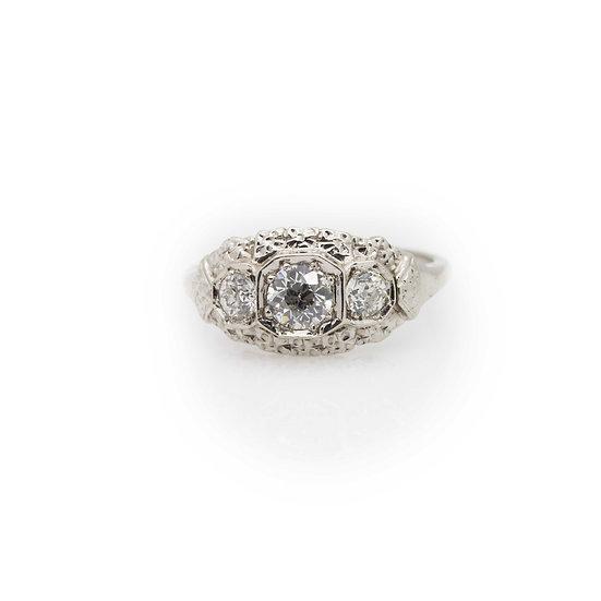 1.05ct Diamond Trilogy Ring view 1
