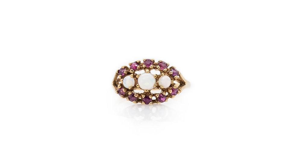 Opal & Tourmaline Ring view 1