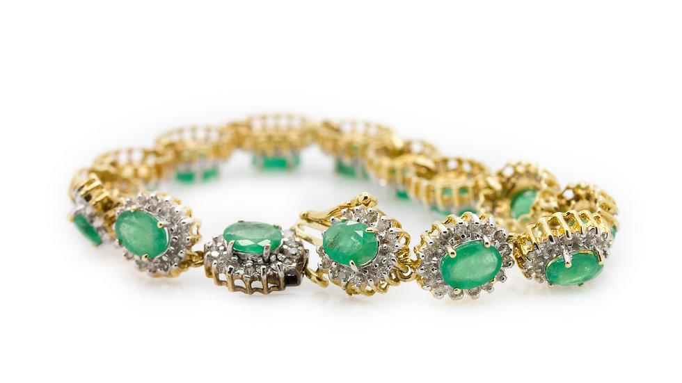 Emerald& Diamond Bracelet view 1