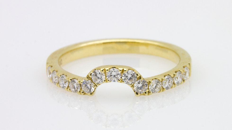 18 Carat Gold Wed Cut Diamond Wedding Band