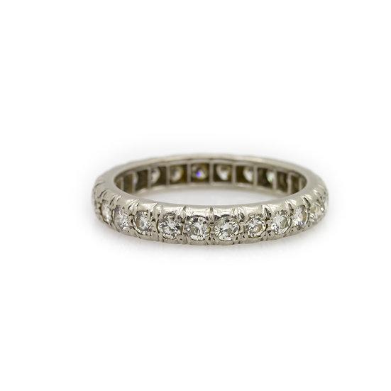 1920's Paris Diamond Ring Mulroy Antiques  view 1