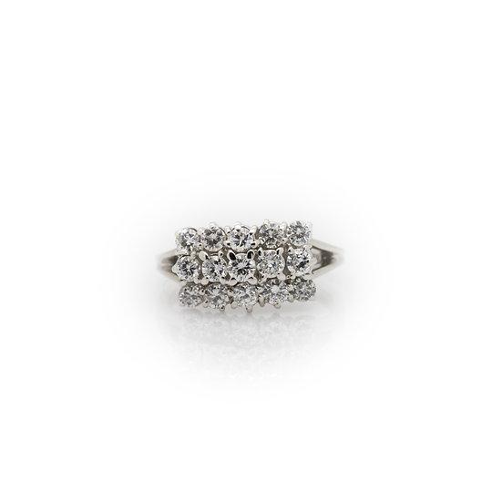 1.50 Carat Diamond Cluster Ring view 1