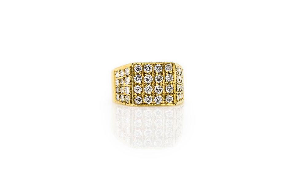 Mens Cluster Ring