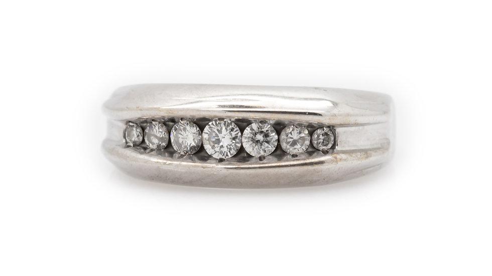 Platinum Mens Diamond Ring
