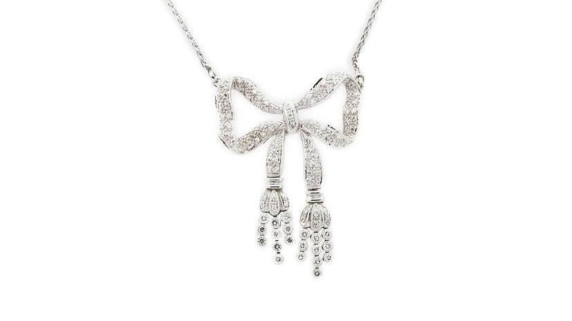 Bow Diamond Necklace