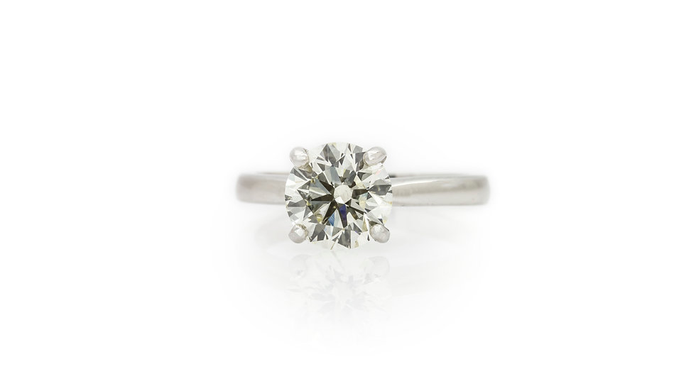 Solitaire Diamond Ring 2.02ct front view