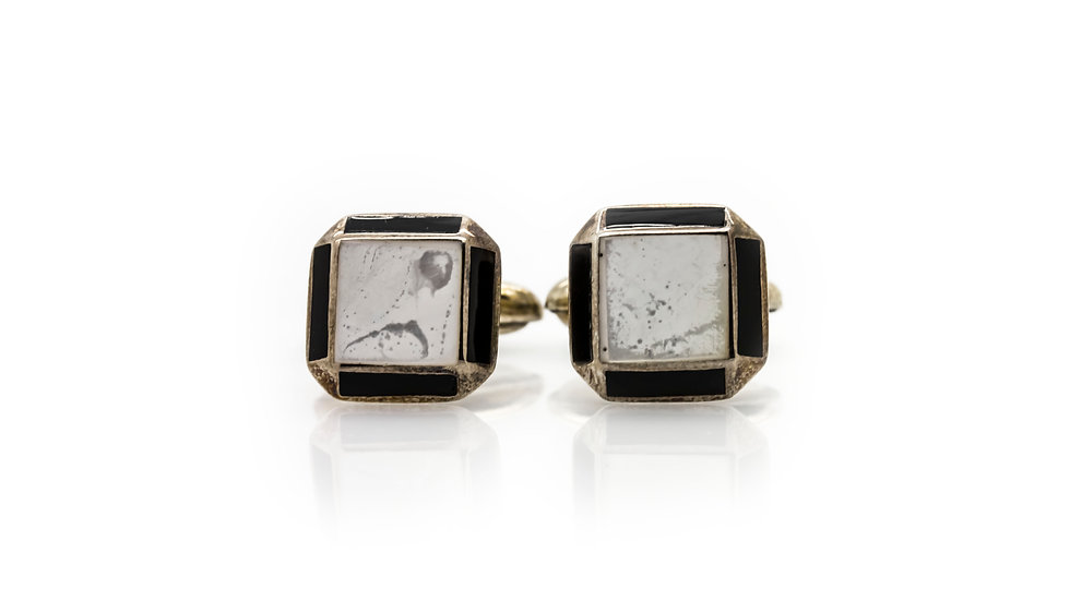 Square Mother Of Pearl Cuff Links