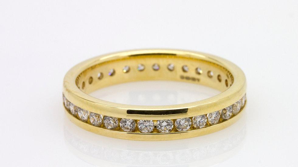 Yellow Gold & Diamond Wedding Band