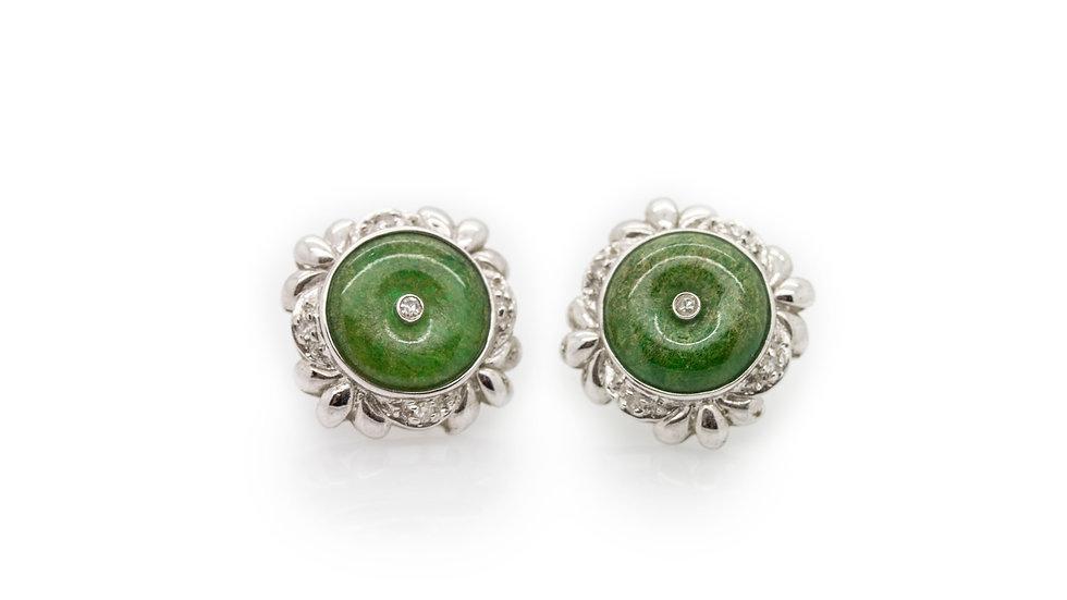 Jade Earring & Pendant Set