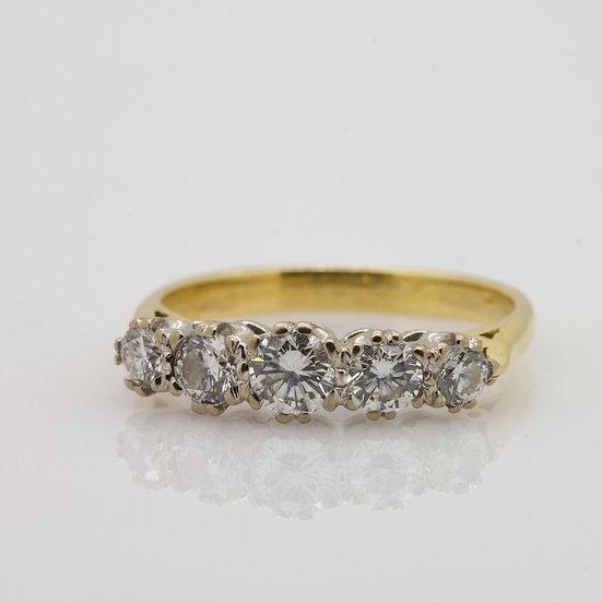 Diamond 5 Stone Half Eternity Ring