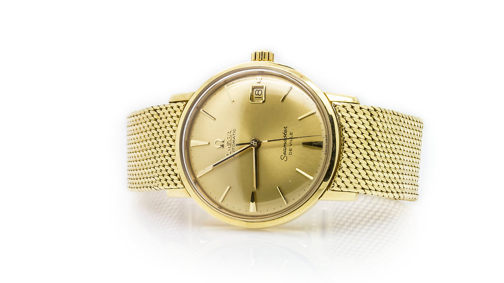 Omega 18ct Yellow Gold Seamaster De Ville Gents Wristwatch