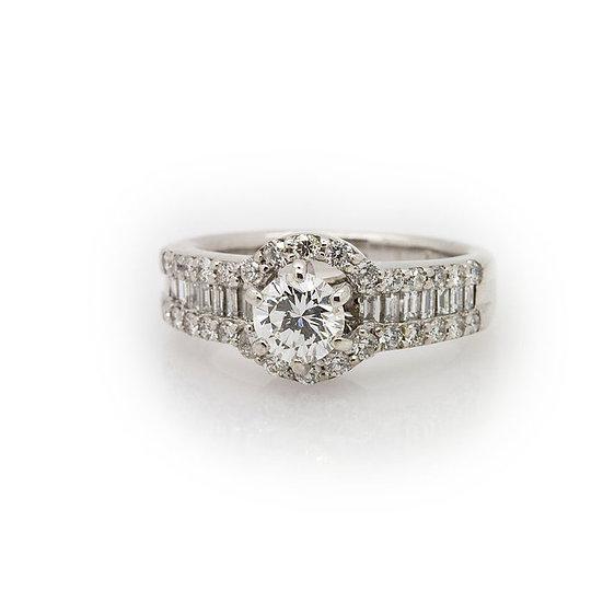 Diamond Halo Ring view 1