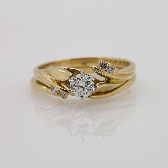 Yellow Gold Diamond Wedding Set