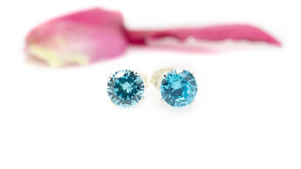 Swarovski Stone Stud Earrings blue