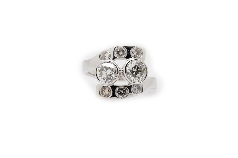 Art Deco Diamond Ring Mulroy Antiques view 1